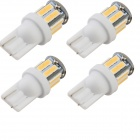 YouOKLight T10 5W 400lm 6500K 10-SMD 7020 White Lamp (DC 12V / 4PCS)