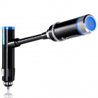 "0.8"" Bluetooth V4.0 Car FM Transmitter w/ Hands-Free Calls / USB 2.0 - Black + Blue"