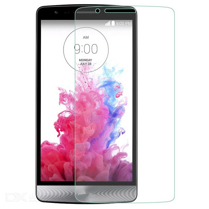 Dulisimai Ultra-Thin 9H Clear Tempered Glass Screen Protector Guard for LG G3 - Transparent