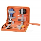 WLXY Professional 37-in-1 Watch Clock Repair Tools Kit w/ Canvas Bag - Orange