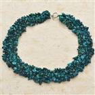 Rainforest Turquoise Wide Necklace 18""
