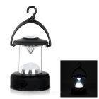 1W White Light Outdoor Camping Mini LED Lantern / Tent Lamp w/ Hanger Hook - Black (3 x AAA)