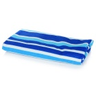 Stripe Printing Superfine Fiber Beach / Bath Towel - Blue + White