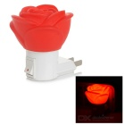 Red Rose Shaped 0.5W 20lm Night Lamp (US Plugs)