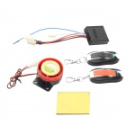 Motorcycle Motorbike Scooter Anti-theft Security Remote Alarm Kit - Black