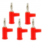 Jtron solderless apilable 4mm banana plugs - rojo (5 unidades)
