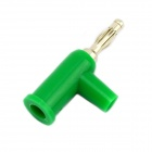 Jtron Solderless Stackable 4mm Banana Plugs - Green (5 PCS)