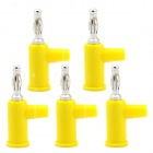 Jtron Solderless Stackable 4mm Banana Plugs - Yellow (5 PCS)