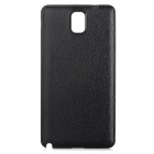 Replacement Plastic + PU Back Case for Samsung Note 3 N9002 / N9008 / N9006 /  N9009 - Black