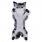 Plush Doll Cat Style PC Stand Back Case for IPHONE 5 / 5S / 5C - Black + Grey