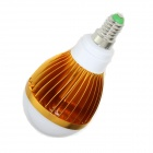 E14 5W LED Globo Bulbo fresco Luz Branca - Golden + Silver (85 ~ 265V)