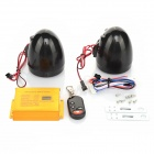 MP3 Player Speaker Audio Sound System for Motorcycle - Black