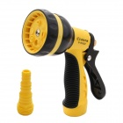 BESTIR BST-03353 8-Pattern Nozzle Garden Car Wash Sprinkler Water Gun Sprayer - Black + Yellow