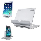 360 grados rotativo aluminio plegable soporte para IPAD / IPHONE / Tablet PC / Smartphones - plata
