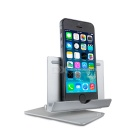 360° Rotary Aluminum Folding Stand for Cellphone / Tablet - Silver