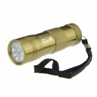 Ultrafire 12-LED Cold White 100lm Flashlight - Dark Khaki (3*AAA)