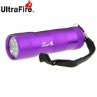 UltraFire 12-LED Cool White Light 100lm 1-Mode Flashlight Torch - Purple (3 x AAA)