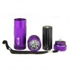 Ultrafire 12-LED Cold White 100lm Flashlight - Purple (3*AAA)