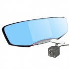 5.0 inch Dual Lens 1080P Full HD 170 Degree Car DVR Car Rear View Mirror - Black