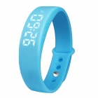 Multifunctional USB LED Smart Bracelet w/ 3D Pedometer & Sleep Monitor & Calorie Counter - Blue