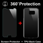 Back Case + Tempered Glass Film for Samsung Galaxy S6 - Transparent