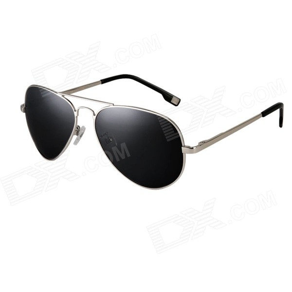 ReeDoon 4025 High Nickel Alloy Frame Resin Sunglasses - Silver + Grey