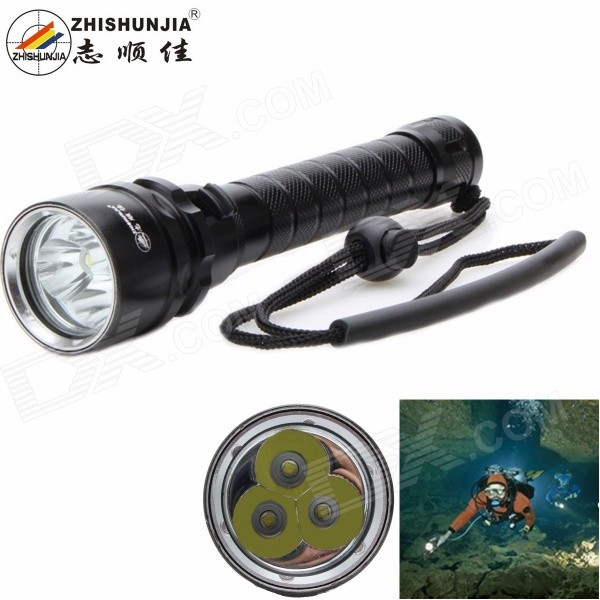 ZHISHUNJIA D45-3T6 2800lm 3*XM-L2 T6 Dimming White Diving Flashlight
