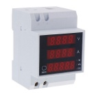"0.5"" LED Air Switch Type / Guide Rail Type Digital Dual Display AC Voltmeter (AC 80~300V / 99.9A)"