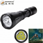 ZHISHUNJIA 2800lm XM-L T6 3-LED 7-Mode White Diving Flashlight - Black (1 x 26650)