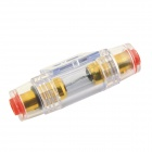 60A Fuse Holder for Car Audio System - Transparent + Red
