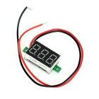 "DIY 0.36"" 3-Digit 2-Wire DC 4.5~30V Green Light LED Digital Voltmeter Voltage Display Module - Black"