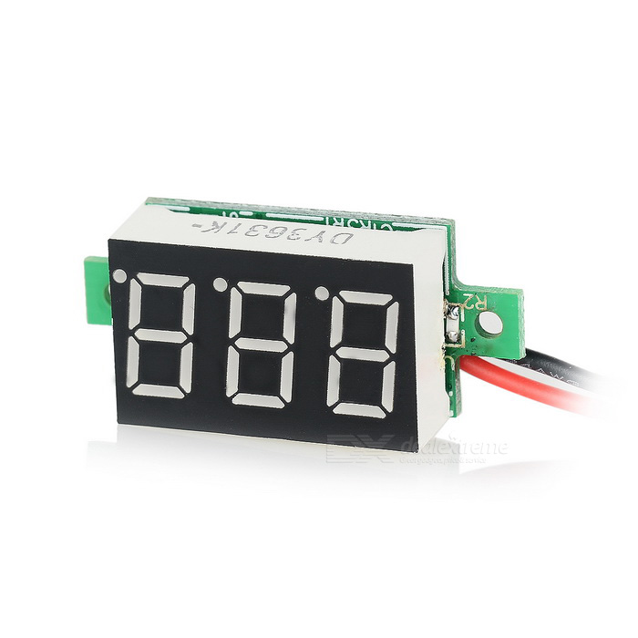 "DIY ""3-Digit 2 hilos DC 4.5 ~ Voltímetro digital"
