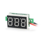 "DIY 0.36"" 3-Digit 2-Wire DC 4.5~30V Red Light LED Digital Voltmeter Voltage Display Module - Black"