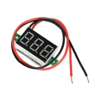 "DIY 0.36"" 3-Digit 2-Wire DC 4,5 ~ 30V rødt lys LED digital voltmeter spenning display modul - svart"