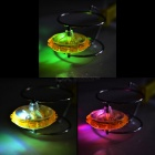 Magnetic Spinning Top Toy w/ LED Light for Kids - Yellow (2*AG13)