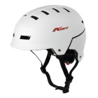 AIDY Thickened Breathable 16-Hole EPS Safety Helmet for Outdoor Cycling / Board-Skating - White