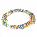 Rainbow Turquoise Wide Necklace 18""