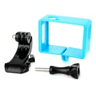 Camera Frame Holder + J-Base for SJCAM SJ4000 / SJ6000 - Blue