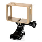 Protective Camera Frame Holder + J-Base + Long Screw for SJCAM SJ4000 / SJ6000 - Black + Golden