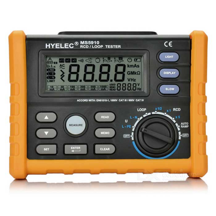 HYELEC MS5910 Leakage Switch / Loop Resistance Tester (6*AA)