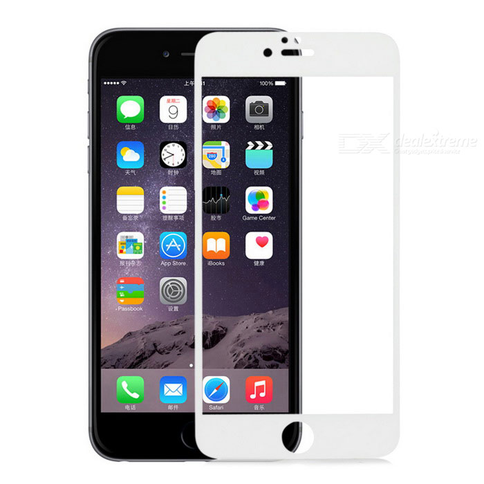 Tempered Glass Clear Screen Guard Protector for IPHONE 6 PLUS - White