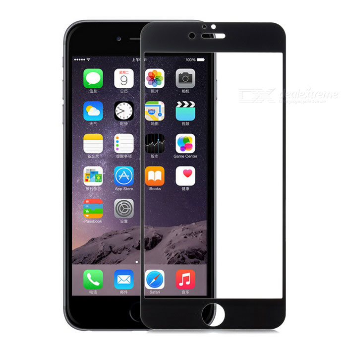 Tempered Glass Clear Screen Guard Protector for IPHONE 6 PLUS - Black