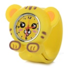 Cartoon Tiger Style Zinc Alloy Silicone Band Quartz Analog Wrist Watch for Kids - Yellow (1 x 377)