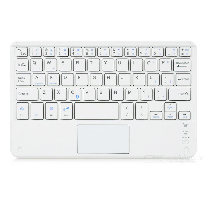 Ultra-thin Bluetooth 59-Key Keyboard w/ Touch Mouse - White