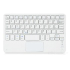 Ultra-thin Bluetooth V3.0 59-Key Keyboard w/ Touch Mouse for Android / Windows Devices - White
