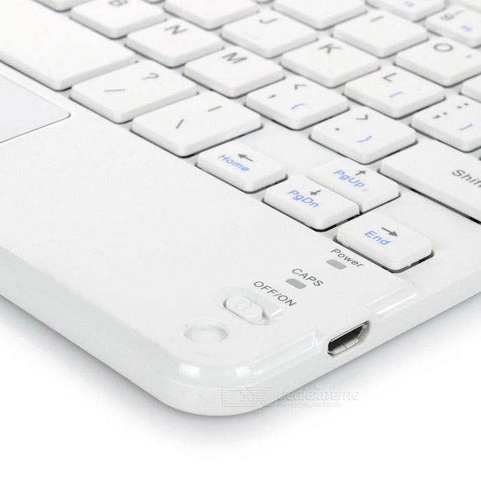 af56327acb6 Ultra-thin Bluetooth 59-Key Keyboard w/ Touch Mouse - White - Free ...