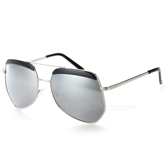 Fashionable UV400 Protection Resin PC Lens Sunglasses - Grey