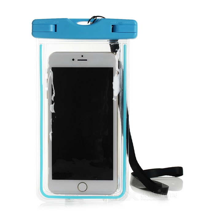 Waterproof PVC Case for IPHONE 6 PLUS + More - Fluorescent Blue
