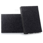 Kitchen Household Washing Cleaning Emery Sponge Cleaner - Black (2pcs)