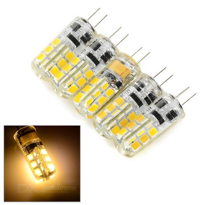G4 2W Car Warm White SMD lampe de lecture LED 130lm - Blanc + Beige (5PCS)